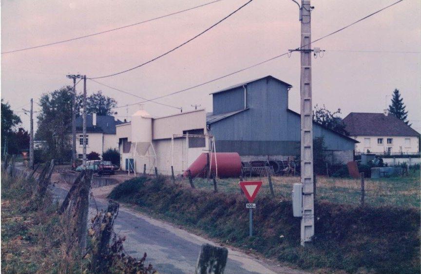 1972 construction du premier atelier de fabrication de silos acier Bergue