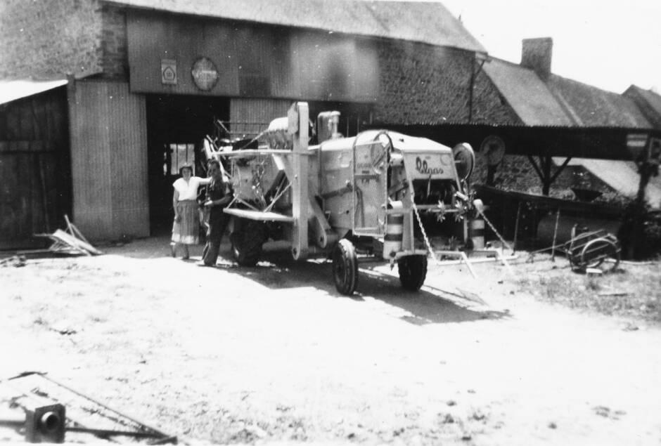 Premier atelier de construction de silo par Maurice Bergue